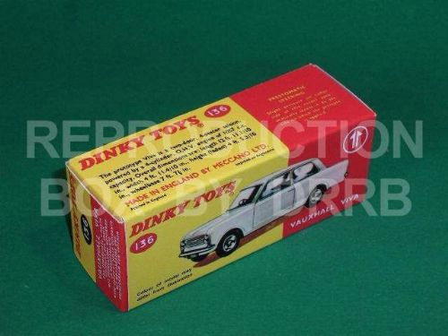 Dinky #136 Vauxhall Viva - Reproduction Box